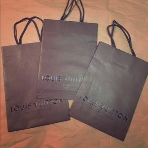 3 authentic Louis Vuitton paper shopping bag gift